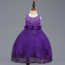 Sleeveless A-line Purple Little Flower Girl Dresses for Weddings First Communion Dresses For Girls Kids Evening Gowns 2018 цена 2017