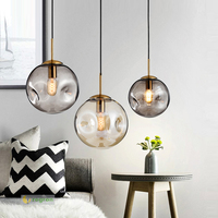 Modern North European Bar Pendant Light Bedroom Lamp Bedhead E27 Living Room Hanging Lights Glass Restaurant Led Lamps
