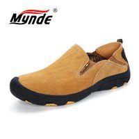 Mynde бренд Для мужчин из натуральной замши Повседневная кожаная обувь удобные дышащие качества Мужская обувь открытая обувь модные Нескольз...
