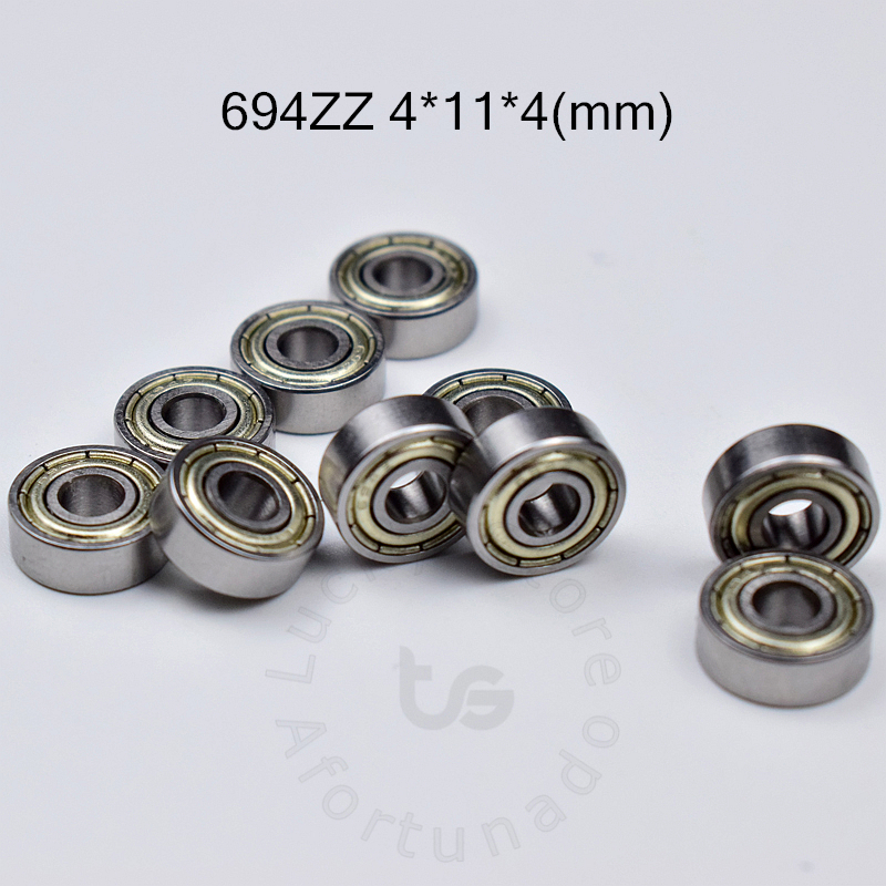 694ZZ 4*11*4(mm) 10pieces Bearing Free Shipping ABEC-5 Bearings 10pcs Metal Sealed Bearing 694 694Z 694ZZ Chrome Steel Bearing