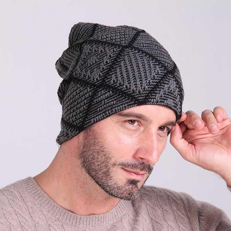 #0701 2016 Autumn winter hats for men Touca inverno men knitted cap men Gorras hombre Fashion beanies men Bones masculino