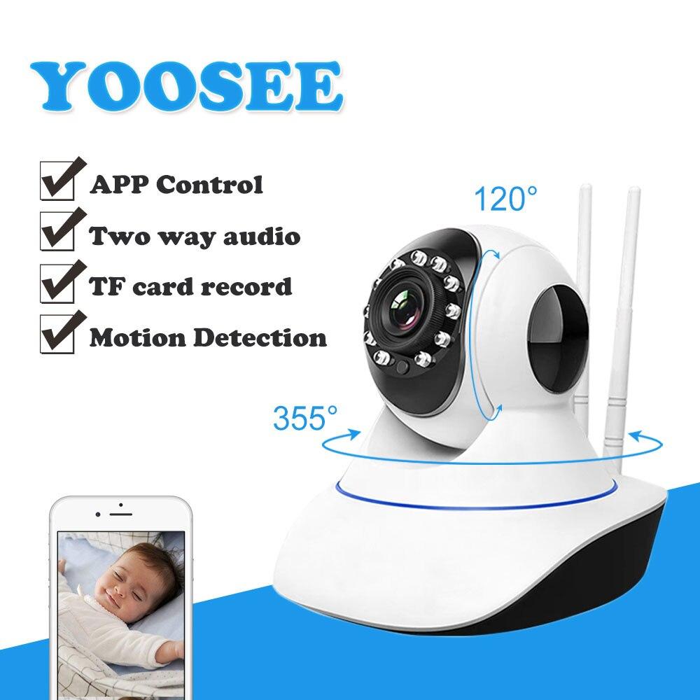 Yoosee 720 p 1080 p wi fi câmera de segurança em casa hd pan tilt câmera ip sem fio áudio em dois sentidos monitor do bebê cctv ip cam 64g sd p2p