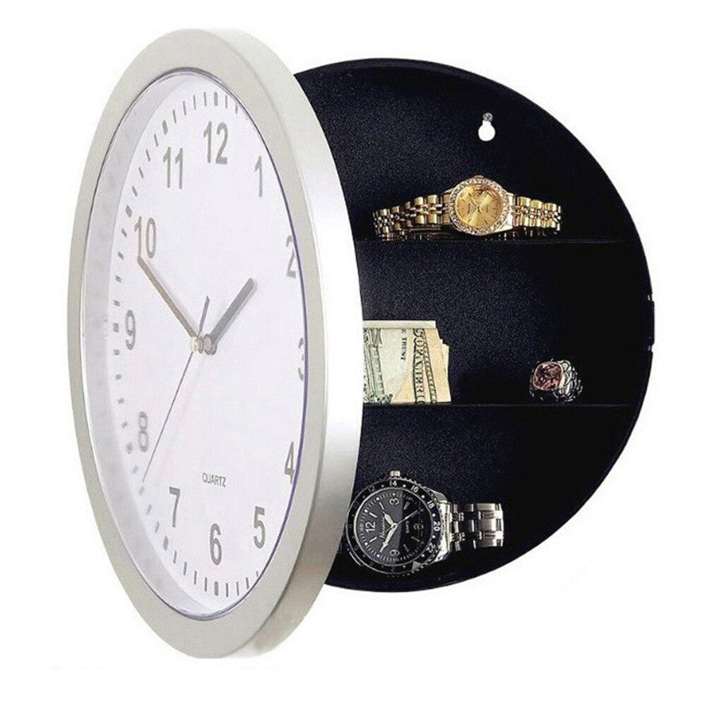 Acheter Horloge murale Déroutement Sûr Horloge Boîte De Rangement En Plastique Bijoux Argent Caché Cachette Secrète Coffre fort de Boîtes De Rangement fiable fournisseurs