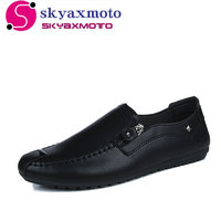 New 2018 Luxury Brand Comfortable Leather Shoes Casual Men S Flats Design Man Driving Shoes Soft