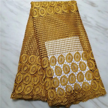 Factory offers latest cord lace fabric 2018High quality African lace with monochrome lace in earthy for Party Dresses(16L-4-19