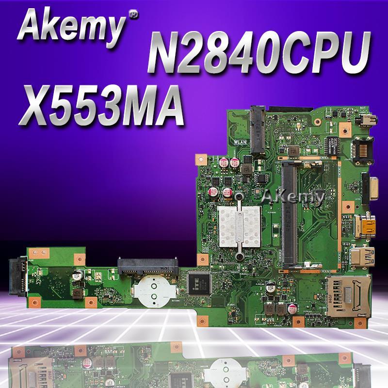 Akemy X553MA With N2840 2830U mainboard REV2 0 For ASUS F503M X503M F553MA X503MA D503M X553MA