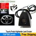 Беспроводной sony ccd Автомобилей Вид Спереди Логотип Камера Для Toyota Prado Highlander Land Cruis 4 4runner camry... водонепроницаемый IP68