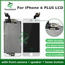 10 шт./лот AAA сборка полная замена ЖК-сенсорный экран 5,5 для iPhone 6 plus ЖК-фронтальная камера+ динамик+ домашняя кнопка в сборе