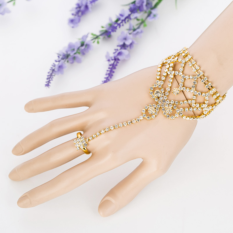 Wedding Jewelry 2017 Sale Fashion Jewelry New Arrival Wholesale/retail Lady Chain Rings Bracelet Bangles Bridal Accessories