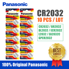 Panasonic Original 10pcs lot cr 2032 Button Cell Batteries 3V Coin Lithium Battery For Watch Remote