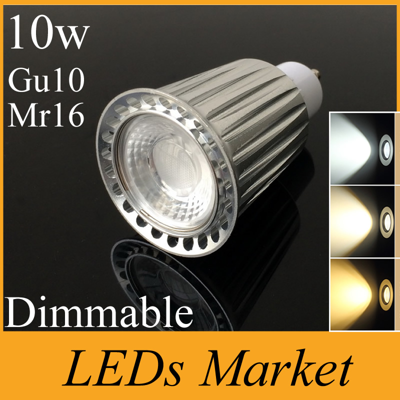 silver aluminum 10w cob led spotlight gu10 mr16 gu5 3 e27 dimmable led lamp spot lights 900lm. Black Bedroom Furniture Sets. Home Design Ideas