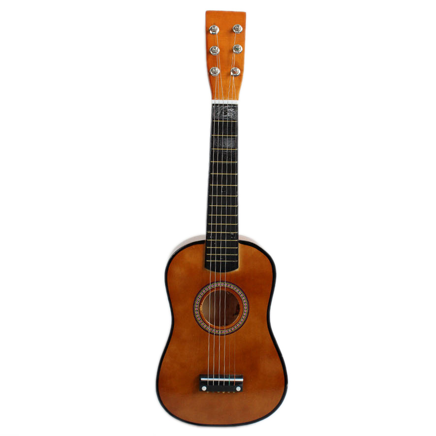 brown 23 guitar mini guitar basswood kid 39 s musical toy acoustic stringed instrument with. Black Bedroom Furniture Sets. Home Design Ideas