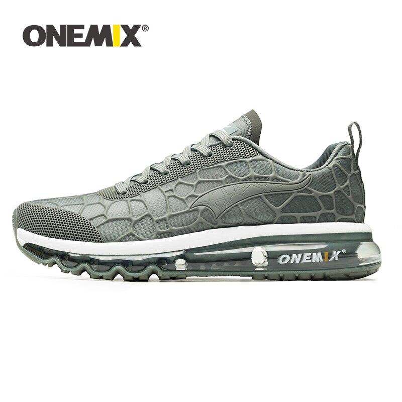 ONEMIX hommes chaussures de course respirant maille baskets pour homme athlétique Air coussin école Sport chaussures plein Air Max marche chaussures