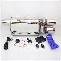 Universal aço inoxidável 2.5 3 polegadas tubo de escape elétrico tubo de escape recorte elétrico com controle remoto válvula atacado