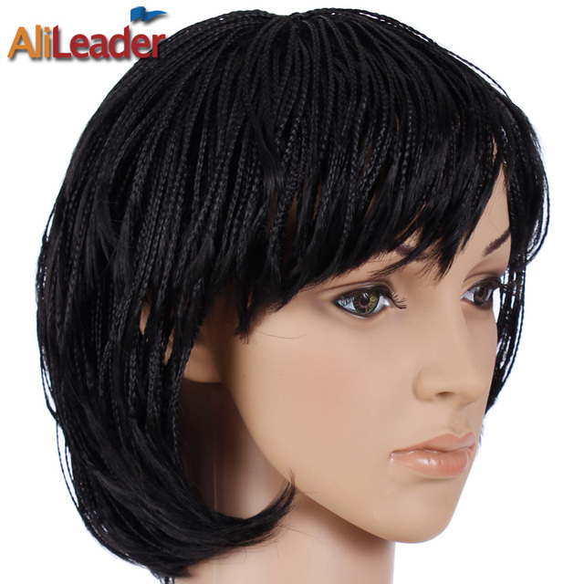 Alileader Products Box Braid Wig With Baby Hair Best Black Short Wigs For Women Synthetic