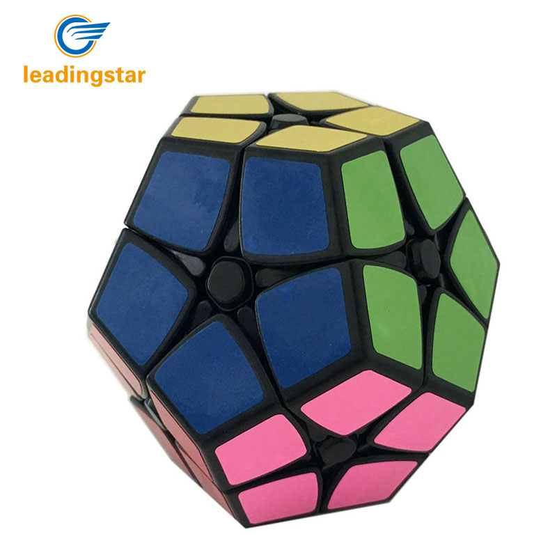 SENGSO cube Speed Puzzle 2x2 Megaminx Speed Cube Dodecahedron Brain Teaser Kids Toy White And Black