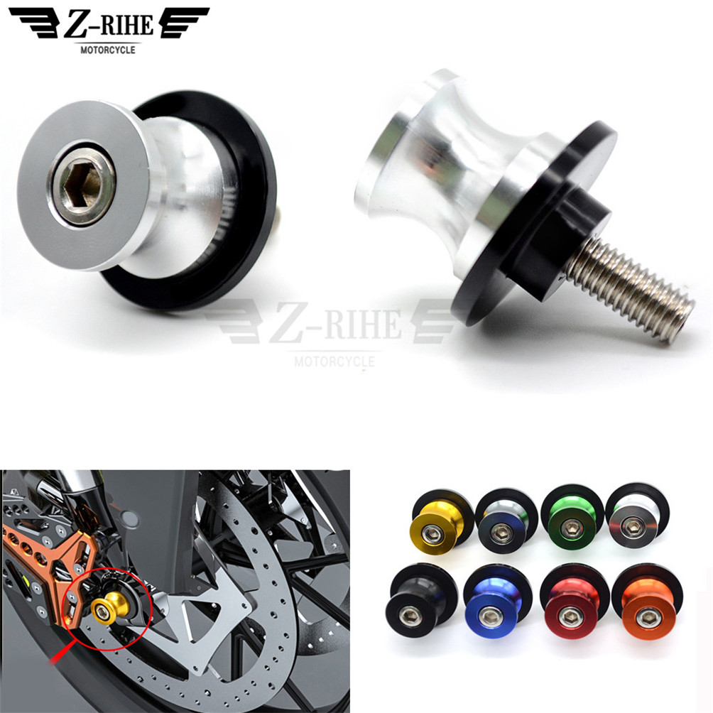 10MM swing arm Sliders Motorcycle CNC Swingarm Spools stand screws Slider for honda CBR954RR NC700 NC750 S X PCX125