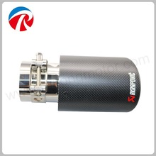 "63mm"" Carbon Fiber Akrapovic Car Exhaust Muffler Tip Automobile Carbon Exhaust Tip Pipe"