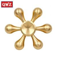 QWZ New Gold Fidget Spinner Finger Spinner Hand Spinner Brass Spiner Anti Relieve Stress Toys Top Handspinner EDC for Kids Gift