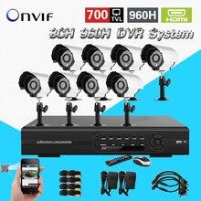 TEATE 8ch Sistema de CFTV Kit 8ch DVR 700TVL IR à prova d' água 8ch CCTV DVR Gravador de vídeo Da Câmera ao ar livre Sistema de Câmera de Segurança CK-143
