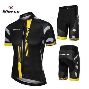 Homens Verão camisa de Ciclismo Manga Curta Malha Respirável Off Road Bicicleta Camiseta Bicicleta Quick dry calças de Roupas Ciclo conjuntos