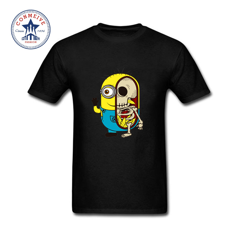 2017 Various Colors Funny Cotton The Yellow Worker Minions T Shirt for men