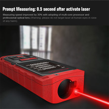 High Accurate Memory Laser Rangefinder 60M Digital Screen Auto Measure Angle Sensor Tool Distance/ Area/ Volume Measurement IP65