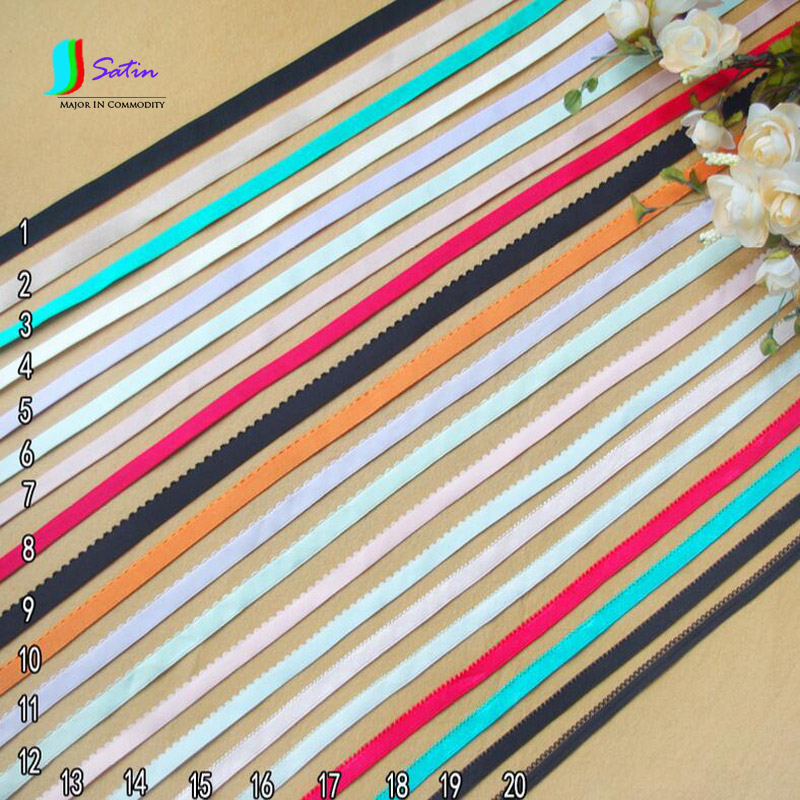 Hot Colorful Bra Elastic Band,Sewing Underswear/cuff/Hair Ornaments/Masks DIY Material Elastic Band 10MM Width S0123L