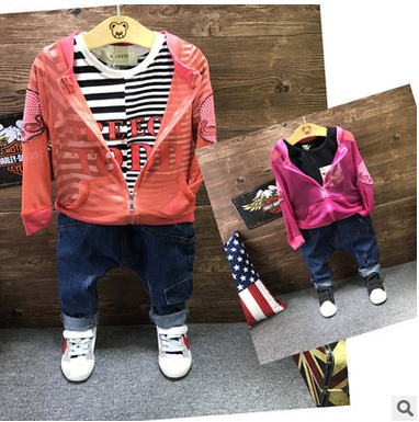 8e9f5bca2f3e summer Sunscre baby girls clothes Skeleton print boys jacket girl ...