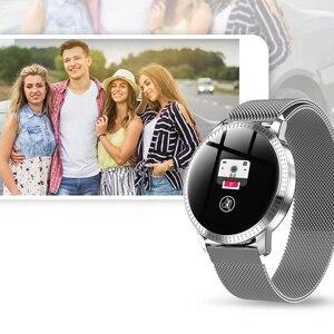 Image 2 - Montre bracelet pour hommes, moniteur de pression artérielle du sommeil, étanche, podomètre, calories, sport, téléphone Android, luxe, montre pour femme