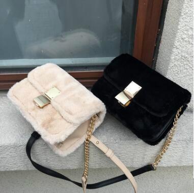 Europe Hot High Grade Ladies Rabbit Fur Bag Luxury Handbags Women Crossbody Bags Designer High Quality