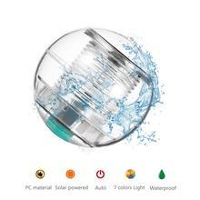 Solar Light 7 Colors Self-Recharging Floating LED Ball Panel For Garden Ponds Lawn Lamps Landscape Yard Night