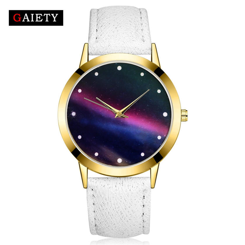 Wrist-Watch Starry Sky Quartz Analog Fashion Women Round GAIETY -0529 Band