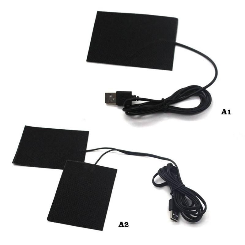 1 шт. 5 в углеродное волокно грелка для рук USB нагревательная пленка Электрический зимний инфракрасный температурный коврик