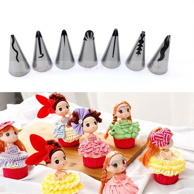 Cake Decorating Tips Rust : 7 Pcs/set Stainless Steel Russian Tulip Icing Piping ...