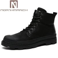 Northmarch дизайнер человек Сапоги и ботинки для девочек Обувь ручной работы мужской Пояса из натуральной кожи Спортивная обувь мужские черные