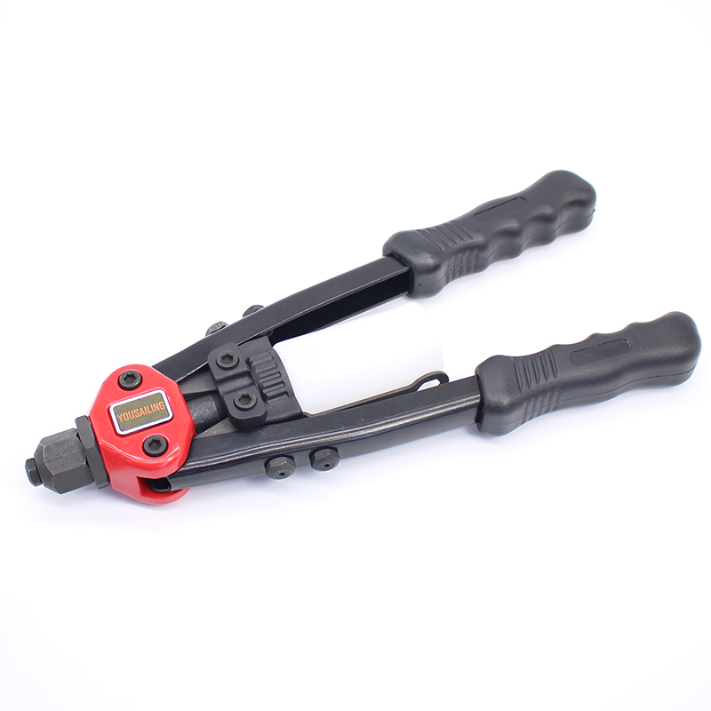 YOUSAILING BT-807 13 Inches (320MM) 3.2mm-6.4mm Heavy Duty Hand Rivets Gun Double Hand Manual Riveting Tool Handle Riveter Gun