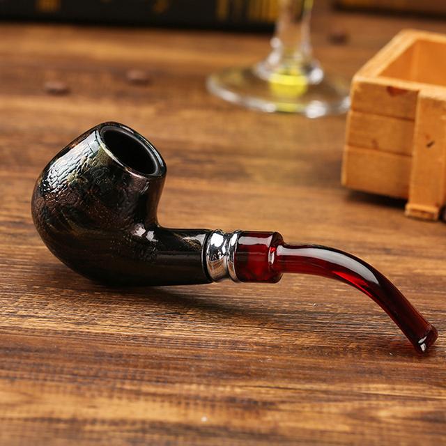 Wooden Smoking Pipe Herb Tobacco Pipe Cigar Hookah Grinder Smoke