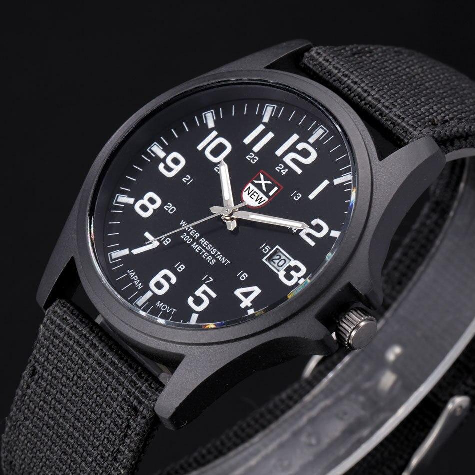 5f4765d7a26 Marca Nylon Relógios Calendário Automático dos homens Relógio Analógico  Digital Militar Relógios dos homens de Negócios de Lazer Relógio de Quartzo  ...