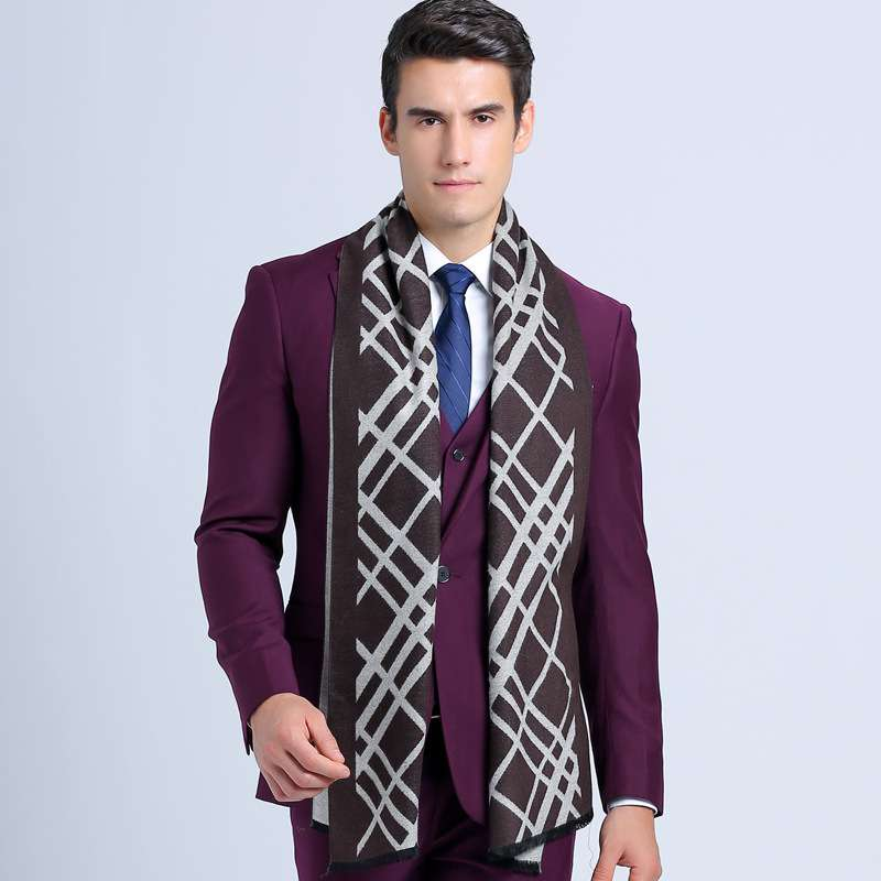 Winter England Style Male Plaid Bufandas Striped font b Tartan b font Men Business Scarf Gryffindor