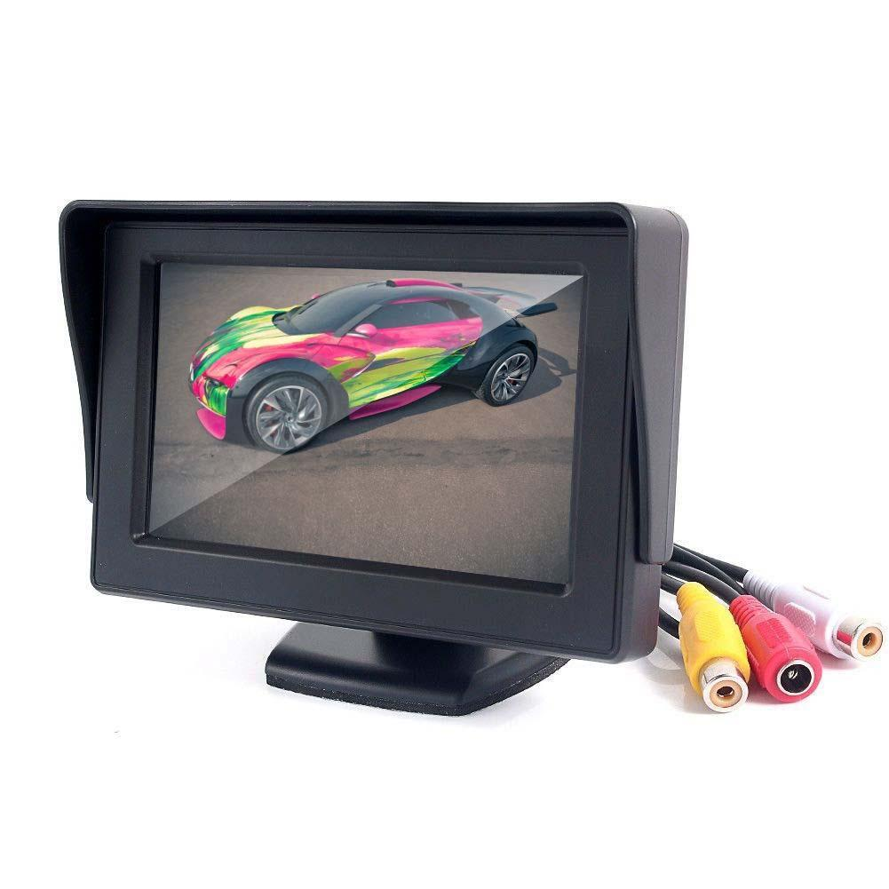 Car <font><b>Monitor</b></font> <font><b>4.3</b></font> <font><b>Inch</b></font> Foldable Reverse Rearview Parking System TFT LCD <font><b>Monitor</b></font> for Car Parking Safely image