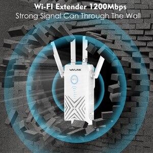 Image 5 - Wavlink Full Gigabit 1200Mbps wzmacniacz sygnału wifi Extender/wzmacniacz/Router/punkt dostępu bezprzewodowy dwuzakresowy 2.4G/5G 4x5dBi anteny