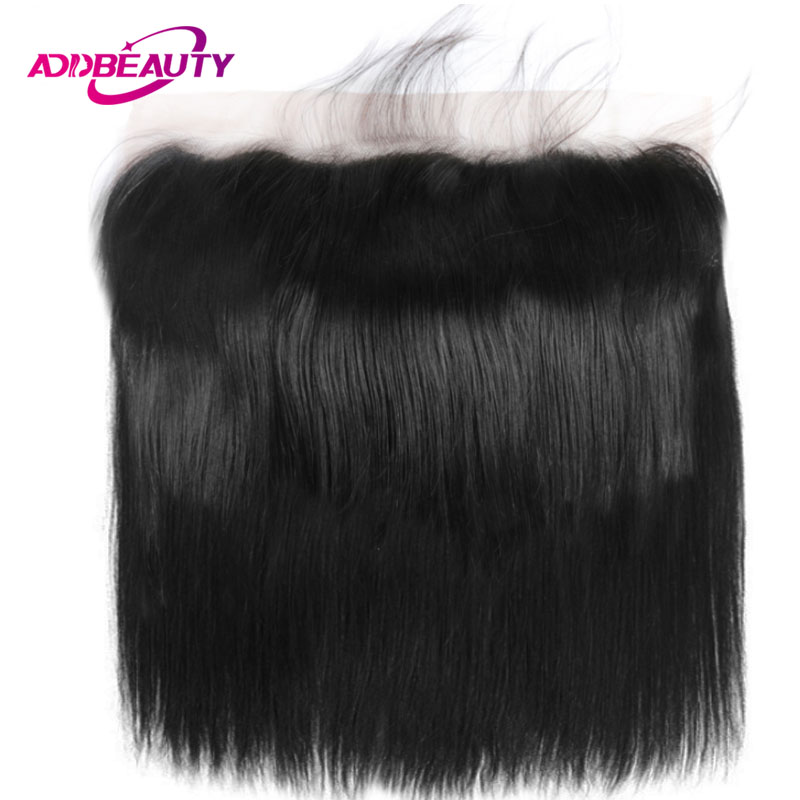 13x6 Lace Frontal Closure Straight Brazilian Unprocessed Virgin Human Baby Hair 130% Density Ear To Ear Free Part Pre Plucked