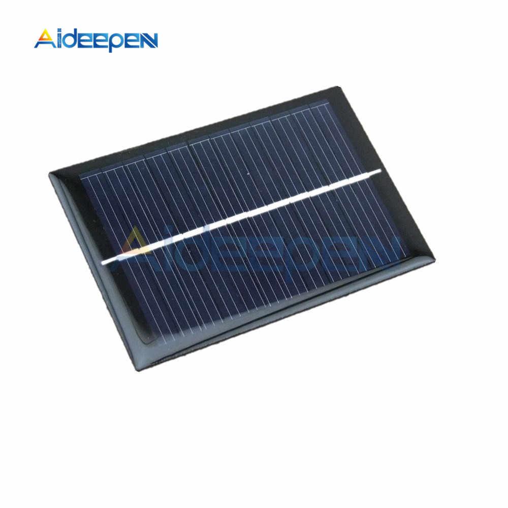 6V 100mA 0.6 ワットミニエポキシソーラーパネル太陽光発電の多結晶セルの充電器
