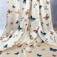 1 м бабочка Имитационные шелковый атлас Ткань Charmeuse мягкие свадебные женское платье решений лето материал
