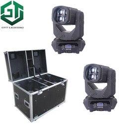 2 sztuk z flightcase Super wiązki światła 4x25 W LED ruchoma głowica światła profesjonalne oświetlenie sceniczne efekt Cree Led lampa Max jasne DMX DJ
