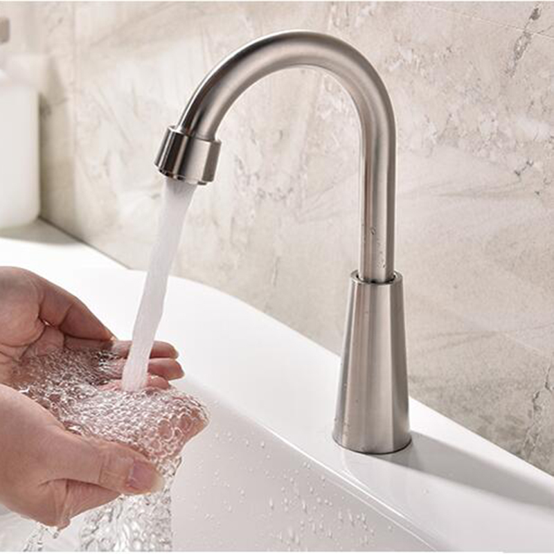 kitchen 304 stainless steel single cold faucet wash a toilet single hole can be rotated touch switch faucet a faucet a single shard