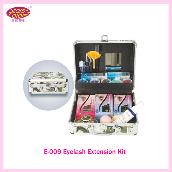 цены Portable Delure Green Beauty Grafting Eyelash Extension Kit False EyeLash Lashes Makeup Set with Silver Box Case