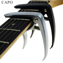 New Acoustic guitar and electric guitar capo silver and black models optional made of Aluminum  guitar parts accessories