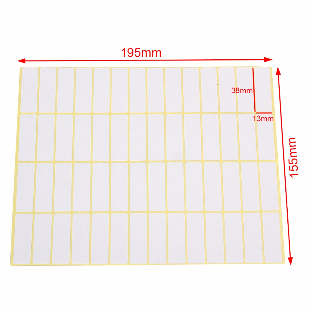 """100 All Purpose Removable Adhesive Price Labels Tags Stickers Square 1""""x 1½"""""""